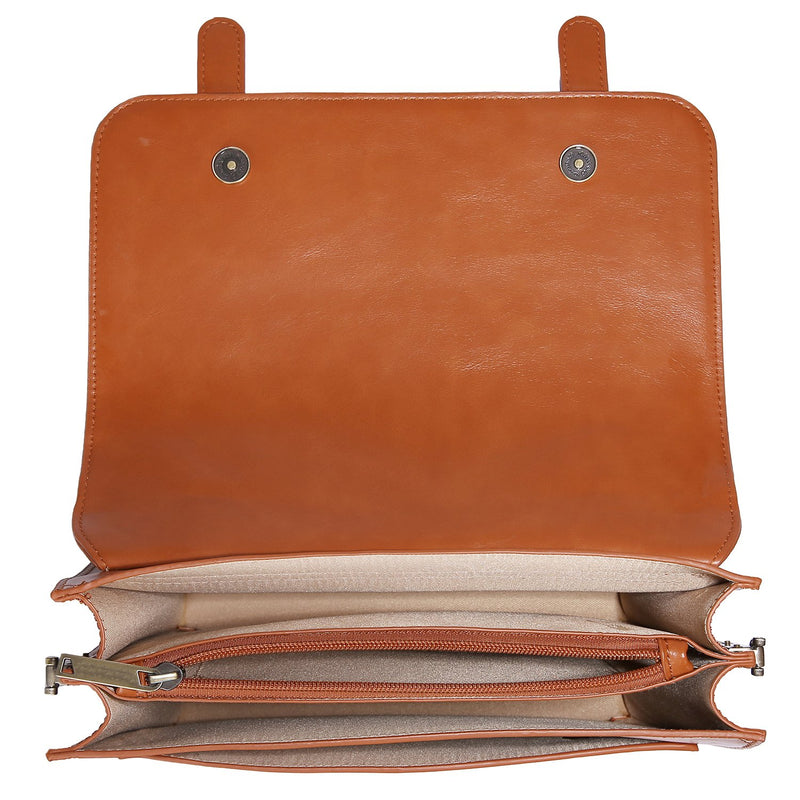 Vintage Bow Boutique Messenger Bag - Brown (Limited Edition)