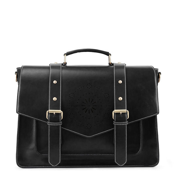 Retro Flap Boutique Messenger Bag - Black (Limited Edition)
