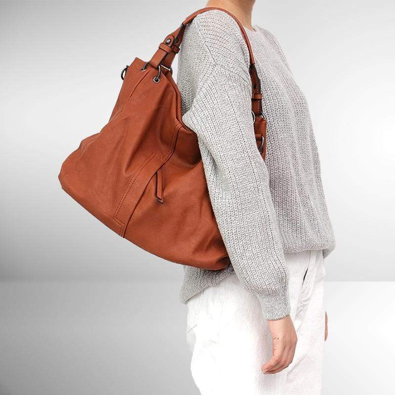 Zipper Solid Shoulder Bag