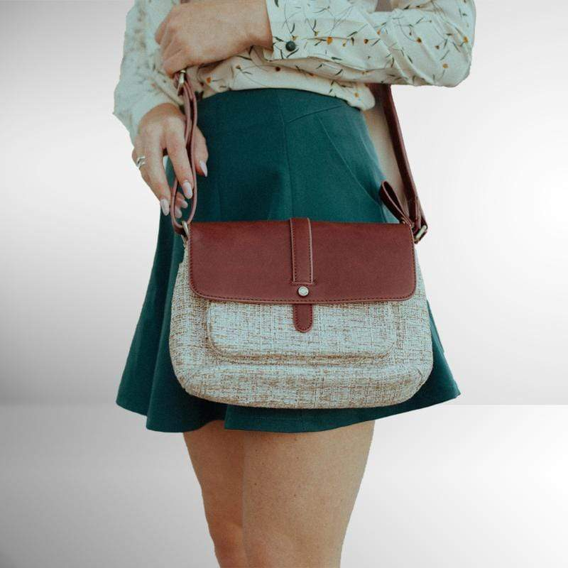 Zipper Flap Crossbody Bag