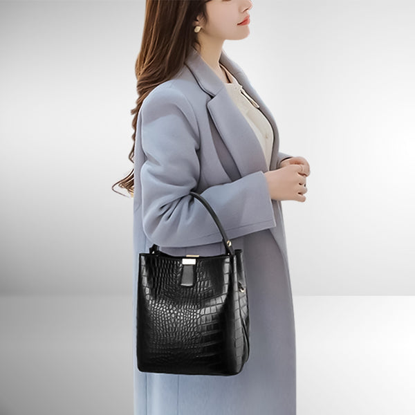 Classic Croco Shoulder Bag