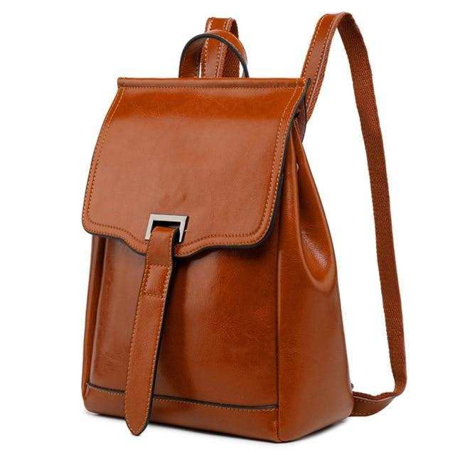 001 Vintage Flap Leather Backpack