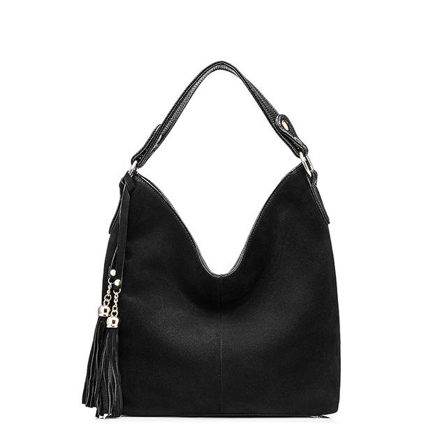 Solid Tassel Shoulder Bag