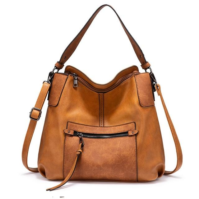 Front Zipper Shoulder Bag