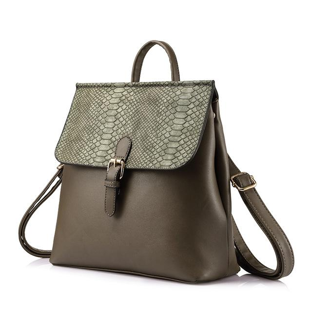 Croco Flap Backpack