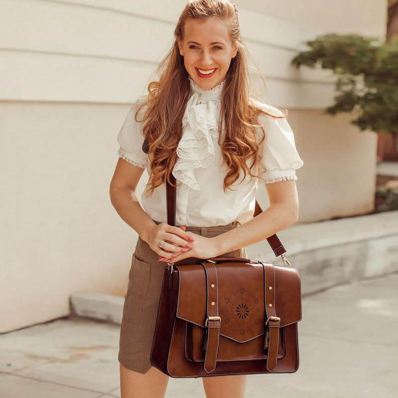 Retro Flap Boutique Messenger Bag - Coffee (Limited Edition)