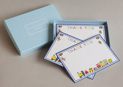 Set of 10 cards and envelopes for children 'Train Thank You Card'