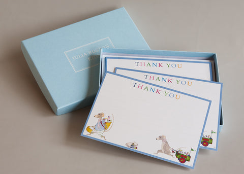 Postmen Mice Thank You Cards And Envelopes