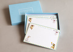 10 Thank you cards and envelopes in a pale blue box