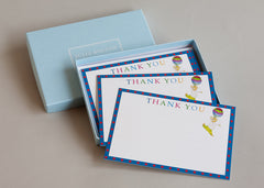 Set of 10 cards and envelopes for children to write on. 'Teddy Bear Thank You Card'