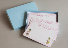 Set of 10 cards and envelopes for children to write on. 'Dancing Mice Thank You Card'