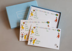 Party invitations for children Set of 10 cards and envelopes for children to write on