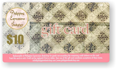 Philippine Expressions Bookshop $10 Gift Card