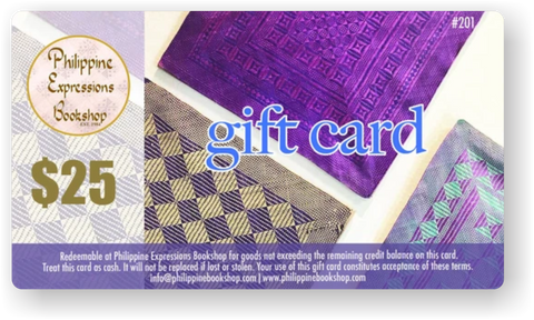 Philippine Expressions Bookshop $25 Gift Card