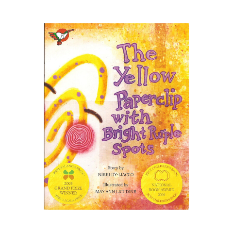 The Yellow Paperclip with Bright Purple Spots
