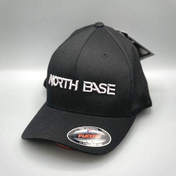Northbase Baseball Cap - Black with Silver Logo