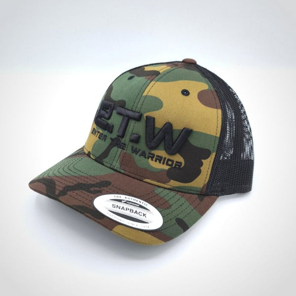 The Prototypes - E.T.W Trucker Cap - Black on Camo