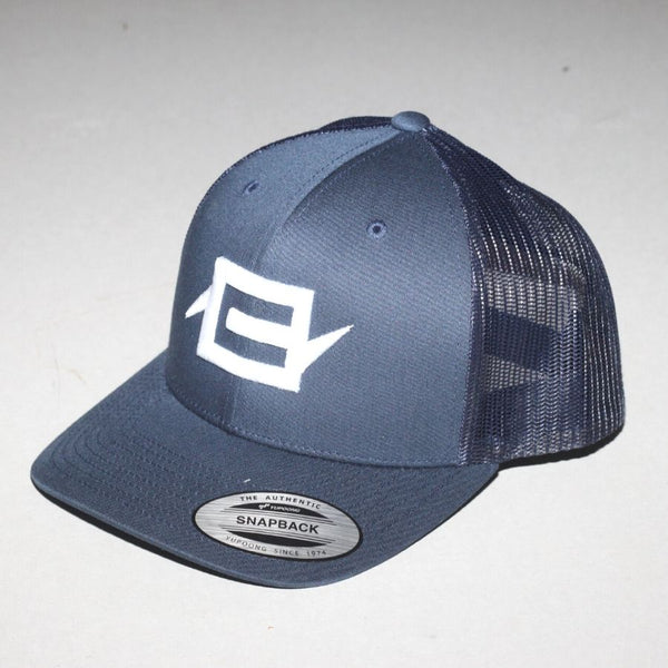 Charge Recordings White on Blue Trucker