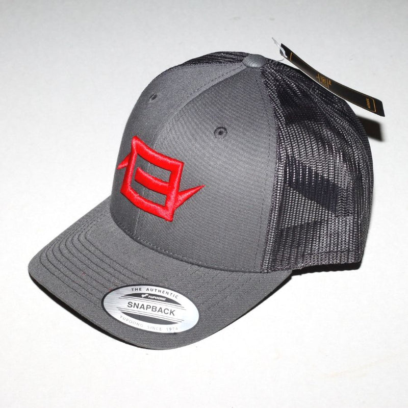 Charge Recordings Red on Grey Trucker