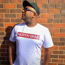 North Base Marble Red on White Tee