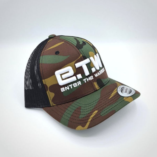The Prototypes - E.T.W Trucker Cap - White on Camo