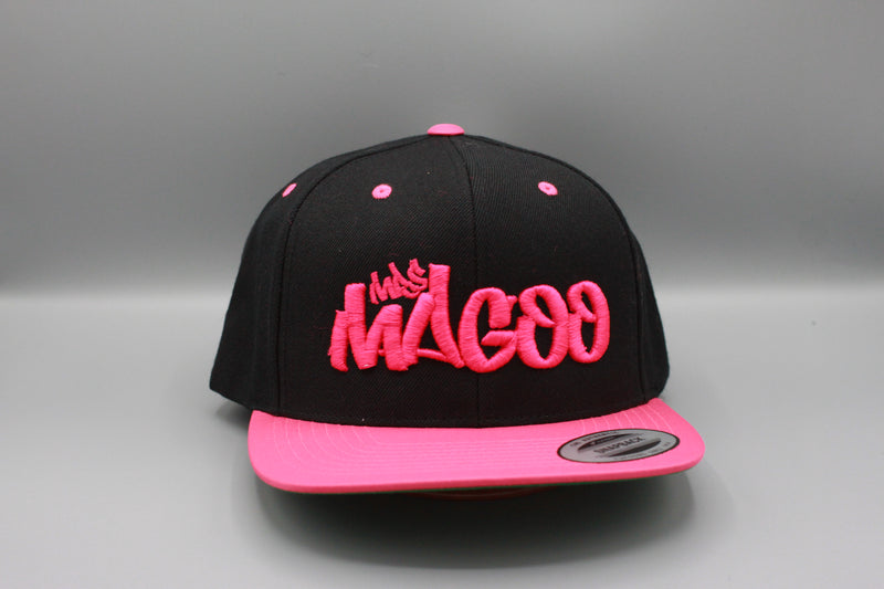Mrs Magoo Hot Pink on Black Snap