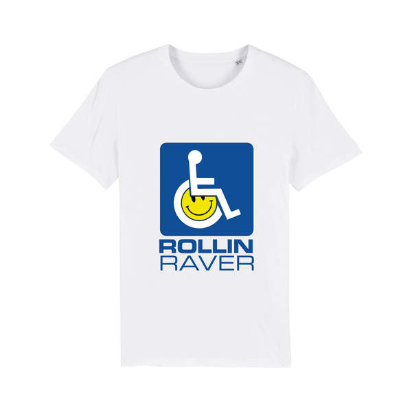 Rollin Raver Fundraiser T-Shirt - Blue on White