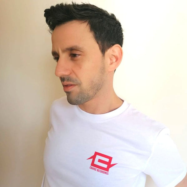 Charge Logo Tee - Red on White