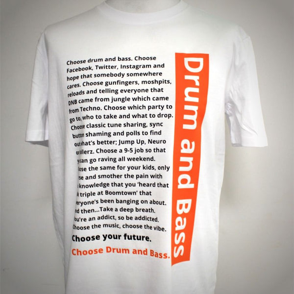 Drum and Bass 'Trainspotting' Inspired T-Shirt