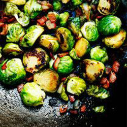 One Pound Roasted Brussel Sprouts & Bacon