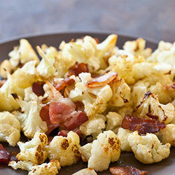 [side] Bacon-Spiked Roasted Cauliflower
