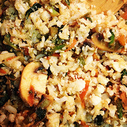 "Sesame-ginger Stir Fried  Cauliflower ""Rice"""