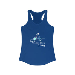 I'm A Mountain Biking Lady Racerback Tank