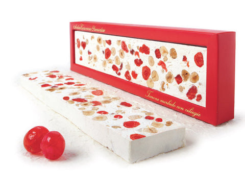 Antica Torroneria Piemontese Soft Torrone Bar - Cherry - Torrone Candy