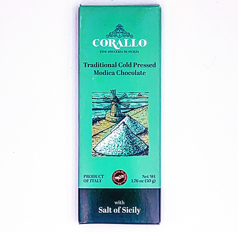 Corallo Modica Chocolate with Sea Salt - Torrone Candy