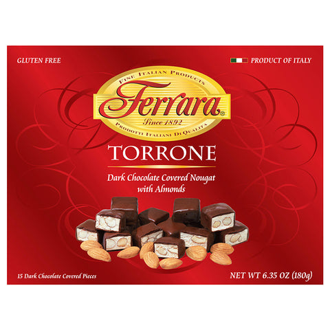 Ferrara Dark Chocolate Covered Torrone - Torrone Candy