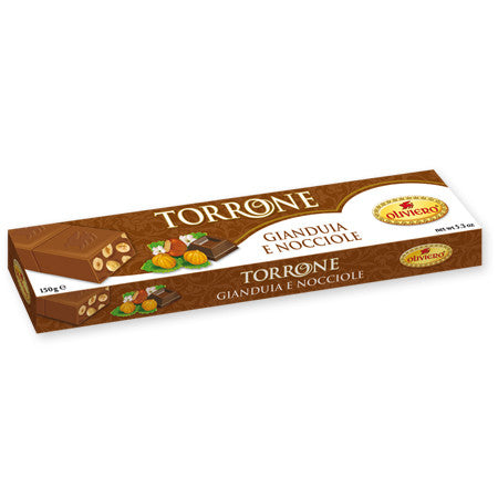 Oliviero Gianduia Chocolate Hazelnut Bar - Torrone Candy