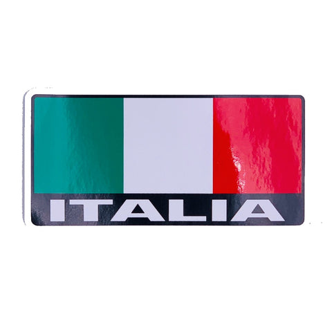 Italia Rectangle Car Decal Sticker