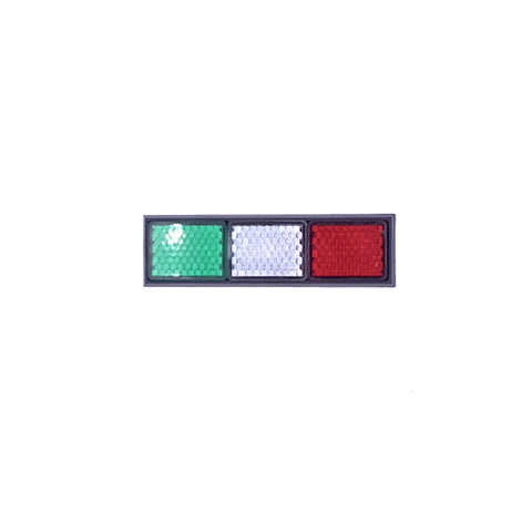 Italian Flag Reflector Decal