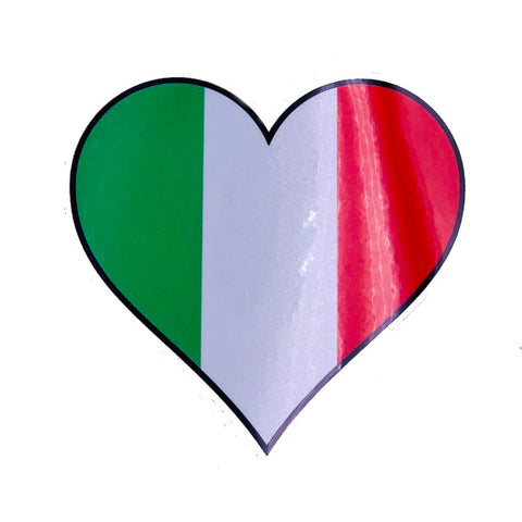 Italian Heart Decal Sticker