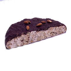 Oliviero Chocolate Covered Soft Almond Torrone Half Moon