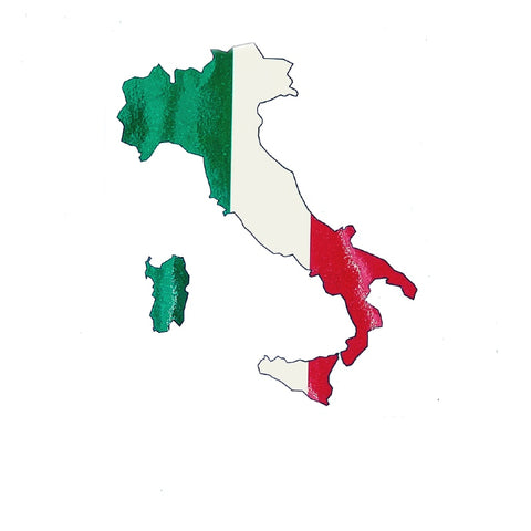 Italy Map Car Decal Sticker