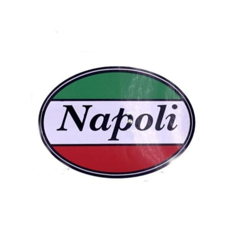 Napoli Oval Car Decal Sticker