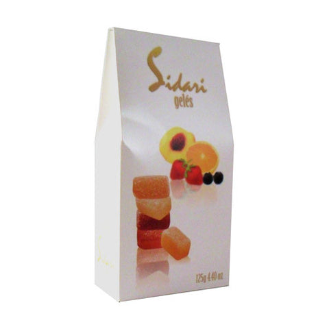 Sidari Geles Soft Candies - Assorted Fruit Flavors - Torrone Candy