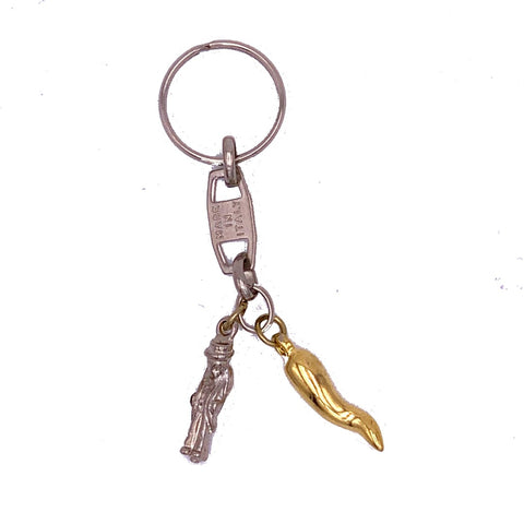 Silver & Gold Horn Gobbo Keychain
