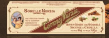 Sorelle Nurzia Chocolate Covered Soft Torrone -  Cinnamon