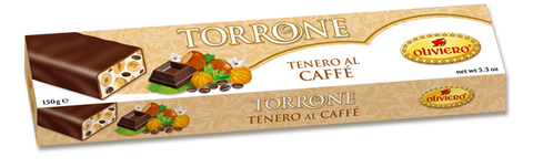 Oliviero Soft Torrone Nougat Bar - Coffee - Torrone Candy