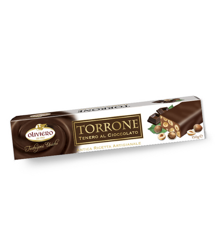 Oliviero Chocolate Covered Soft Chocolate Torrone Bar