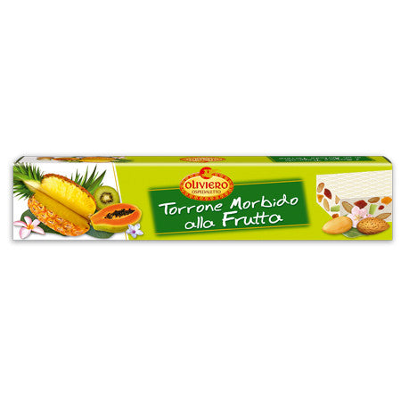 Oliviero Soft Torrone Nougat Bar - Tropical Fruits - Torrone Candy