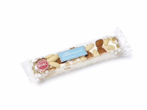 Vital Soft Almond Nougat Bar 3.53oz  (Belgium) - Torrone Candy